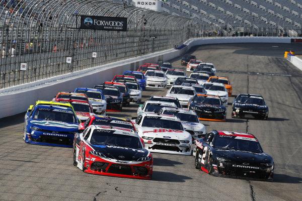 #20: Christopher Bell, Joe Gibbs Racing, Toyota Supra Rheem-Watts and #2: Tyler Reddick, Richard Childress Racing, Chevrolet Camaro Gimme Radio / Megedeth