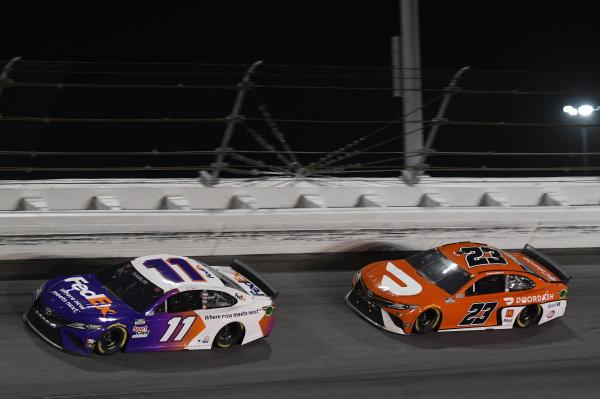 #11: Denny Hamlin, Joe Gibbs Racing, Toyota Camry, #23: Bubba Wallace, 23XI Racing, Toyota Camry