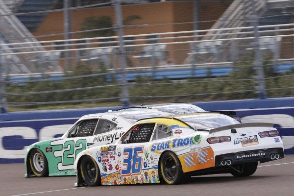 #36: Josh Williams, DGM Racing, Chevrolet Camaro Startron / Sleep Well #22: Austin Cindric, Team Penske, Ford Mustang MoneyLion