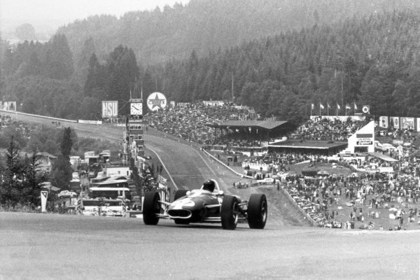 1966 Belgian Grand Prix.Spa-Francorchamps, Belgium. 12 June 1966.Dan Gurney, Eagle AAR101-Climax, not classified, action.World Copyright: LAT PhotographicRef: Autosport b&w print