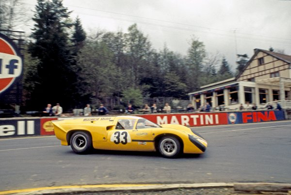 1970 Spa Francorchamps 1000 kms. Spa Francorchamps, Belgium. 17th May 1970. Rd 6. Jo Bonnier/Reine Wisell (Lola T70 Mk3B), 10th position, action. World Copyright: LAT Photographic.