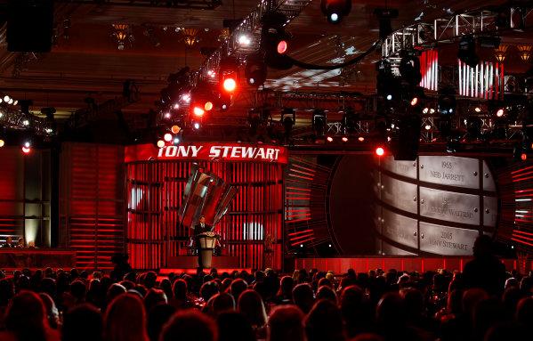 30 November - 2 December, 2011, Las Vegas, Nevada, USAChampion Tony Stewart(c)2011, Michael L. LevittLAT Photo USA