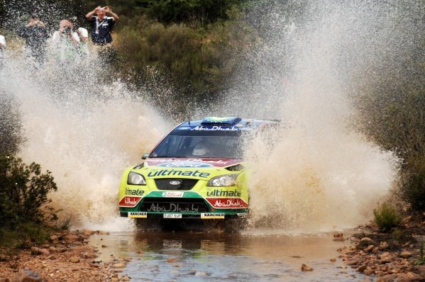 FIA World Rally Championship, Rd 6. May 15-18, 2008 Rally d'Italia Sardegna, Olbia, Sardinia, Italy Day Three, Sunday May 18, 2008. Jari-Matti Latvala (FIN) in the watersplash on Stage 14. DIGITAL IMAGE