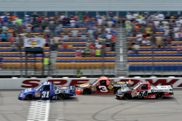 7-8 September, 2013, Newton, Iowa USA James Buescher, Ty Dillon, Darrell Wallace Jr ©2013, Scott R LePage LAT Photo USA