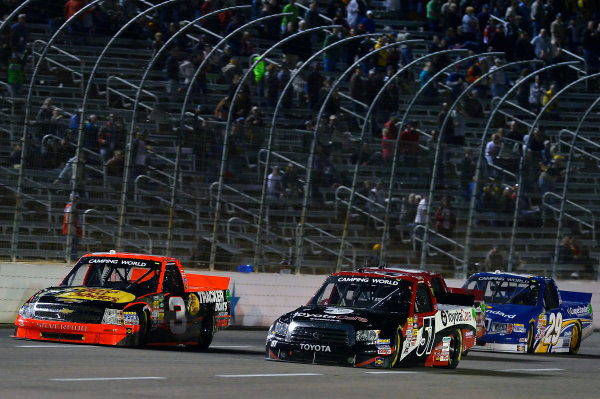 October 31-November 01, 2013, Fort Worth, Texas USA Ty Dillon and Kyle Busch pack © 2013, Brian Czobat LAT Photo USA