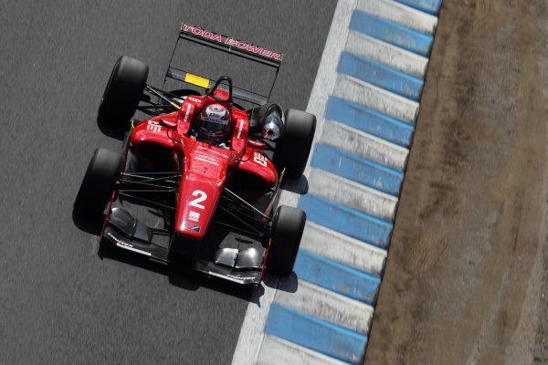 Motegi, Japan. 3rd - 4th August 2013. Rd 5. Race 1 - 3rd position Tomoki Nojiri ( #2  TODA RACING ) action. World Copyright: Yasushi Ishihara/LAT Photographic. Ref: 2013JF3_Rd10_013