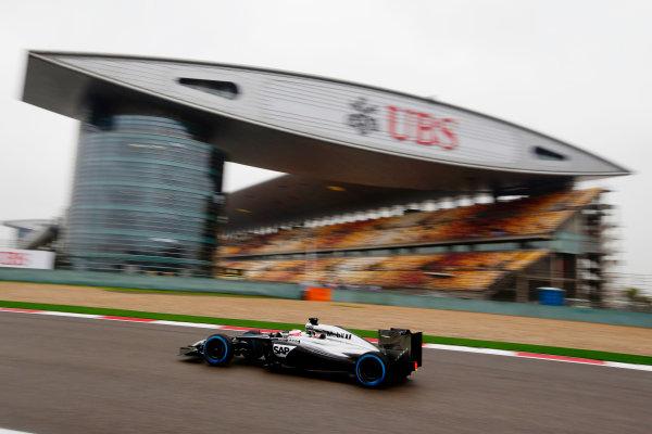 Shanghai International Circuit, Shanghai, China. Saturday 19 April 2014. Jenson Button, McLaren MP4-29 Mercedes. World Copyright: Charles Coates/LAT Photographic. ref: Digital Image _N7T2515