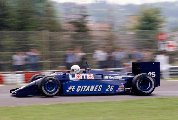 1987 San Marino Grand Prix.Imola, Italy.1-3 May 1987.Rene Arnoux (Ligier JS29B Megatron).Ref-87 SM 30.World Copyright - LAT Photographic