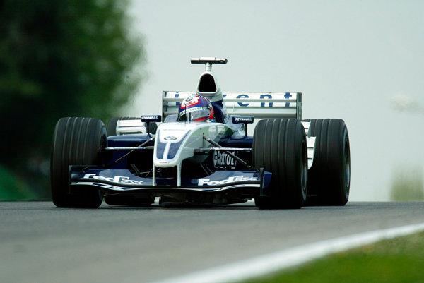 2003 San Marino Grand Prix - Saturday 2nd Qualifying,Imola, Italy.19th April 2003.Juan-Pablo Montoya, BMW Williams FW24, action.World Copyright LAT Photographic.ref: Digital Image Only.