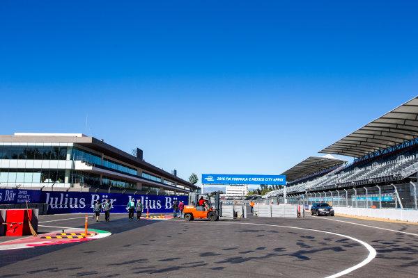 2015/2016 FIA Formula E Championship. Mexico City ePrix, Autodromo Hermanos Rodriguez, Mexico City, Mexico. Friday 11 March 2016. A view of the track. Photo: Zak Mauger/LAT/Formula E ref: Digital Image _L0U7410