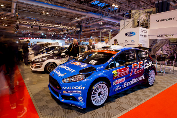 Autosport International Exhibition.  National Exhibition Centre, Birmingham, UK. Sunday 17 January 2016.  Fans at the M-Sport stand. World Copyright: Mike Hoyer/LAT Photographic. ref: Digital Image EL0G9199