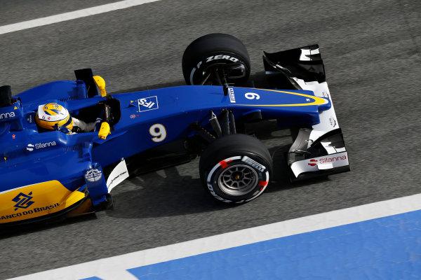 Circuit de Catalunya, Barcelona, Spain Monday 22 February 2016. Marcus Ericsson, Sauber C35 Ferrari. World Copyright: Sam Bloxham/LAT Photographic ref: Digital Image _SBL4904