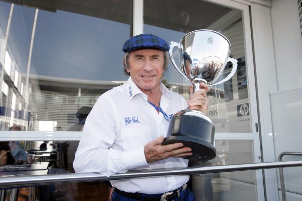 2005 Italian Grand Prix - Sunday Race,Monza, Italy. 4th September 2005 Jackie Stewart celebrates the 40th anniversay of his Monza win. Portrait.World Copyright: Michael Cooper/LAT Photographic ref: 48mb Hi Res Digital Image