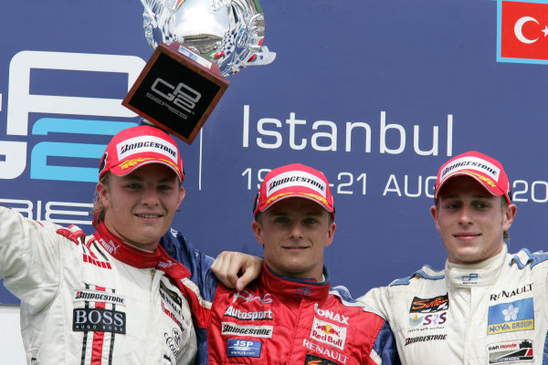 Istanbul Park, IstanbulSunday Race 2Winner Heikki Kovalainen ( fin, Arden) 2nd Adam Carroll (GB, Super Nova International). 3rd Nico Rosberg (D, ART Grand Prix). Copyright: GP2 Series Media Service ref: Digital Image Only