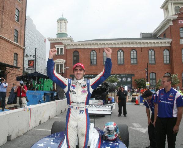 31 August - 2 September, 2012, Baltimore, Maryland USATristan Vautier celebrates his win(c)2012, Maria W. GradyLAT Photo USA