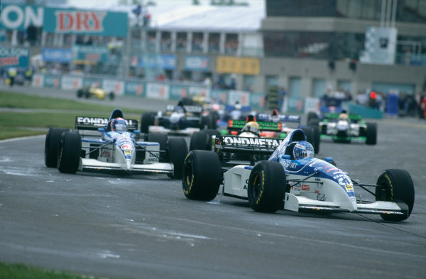 Montreal, Quebec, Canada. 9th - 11th June 1995.Mika Salo (Tyrrell 023-Yamaha), 7th position, action. World Copyright: LAT Photographic.Ref:  95CAN