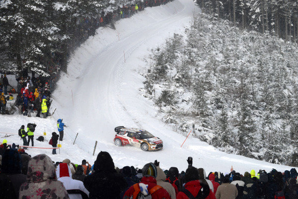 Sebastien Loeb (FRA) and Daniel Elena (MC), Citroen DS3 WRC on stage 6. FIA World Rally Championship, Rd1, Rally Monte Carlo, Day Two, Monte Carlo, 17 January 2013.