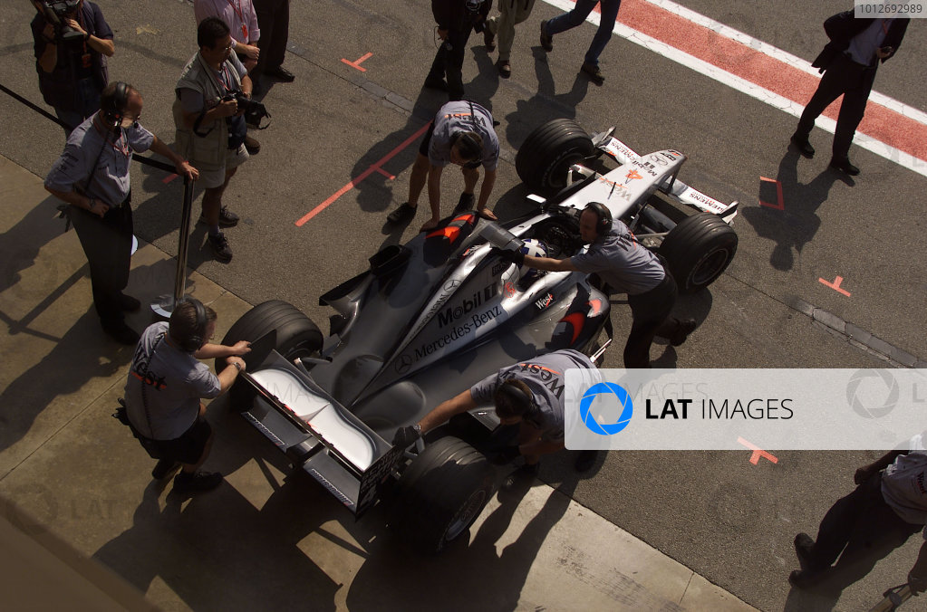 2001 Spanish Grand Prix - Qualifying.