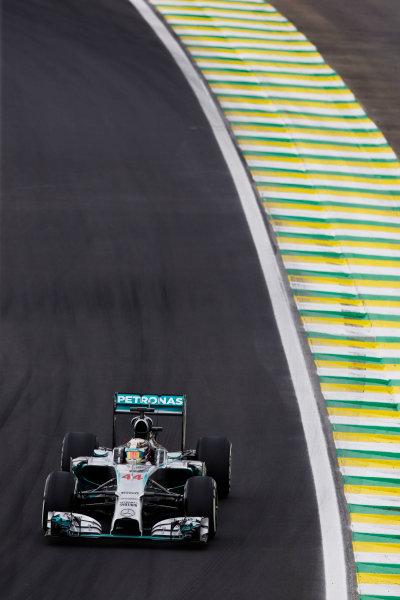 Interlagos, Sao Paulo, Brazil. Saturday 8 November 2014. Lewis Hamilton, Mercedes F1 W05 Hybrid. World Copyright: Charles Coates/LAT Photographic. ref: Digital Image _N7T9564