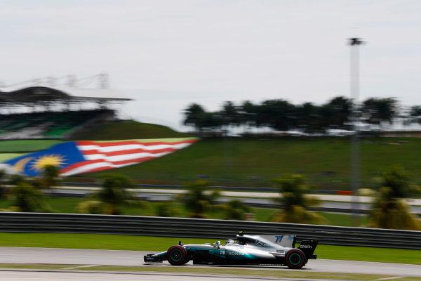 Sepang International Circuit, Sepang, Malaysia. Saturday 30 September 2017. Valtteri Bottas, Mercedes F1 W08 EQ Power+.  World Copyright: Steven Tee/LAT Images  ref: Digital Image _R3I4038