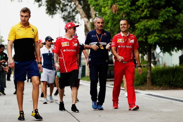 Sepang International Circuit, Sepang, Malaysia. Friday 29 September 2017. Kimi Raikkonen, Ferrari. World Copyright: Zak Mauger/LAT Images  ref: Digital Image _56I2266