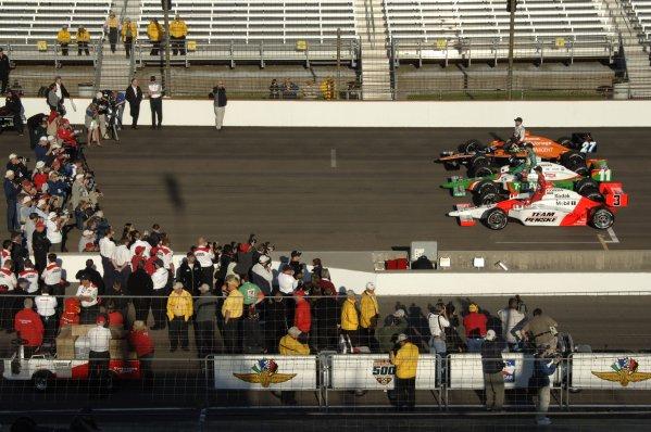 12-20 May, 2007, Indianapolis, Indiana, USAFront row: Helio Castroneves, Tony Kanaan, and Dario Franchitti.©2007,  Paul Webb, USALAT Photographic