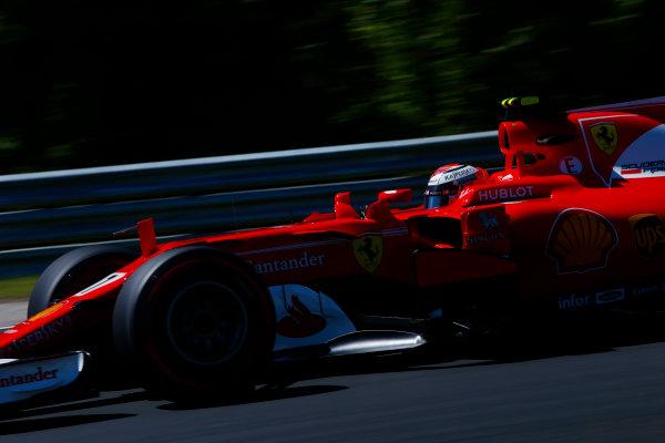 Hungaroring, Budapest, Hungary.  Saturday 29 July 2017. Kimi Raikkonen, Ferrari SF70H.  World Copyright: Andy Hone/LAT Images  ref: Digital Image _ONY0830