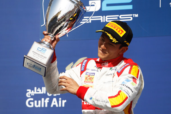 2015 GP2 Series Round 1 - Bahrain International Circuit, Bahrain. Sunday 19 April 2015. Rio Haryanto (INA, Campos Racing)  Photo: Sam Bloxham/GP2 Series Media Service. ref: Digital Image _G7C8954