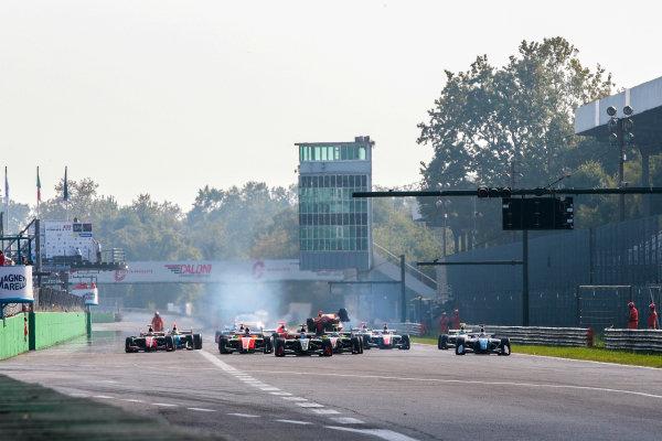 MONZA (ITA) Sept 30-Okt 2-2016 - International GT Open, Euro Formula Open and Formula V8 series 2016 at Autodromo di Monza. Start of Race 2. Action. © 2016 Diederik van der Laan  / Dutch Photo Agency / LAT Photographic