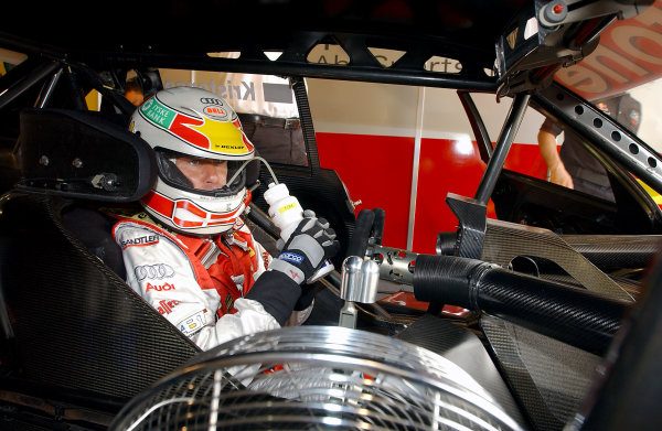 2004 DTM ChampionshipNurburgring, Germany. 30th July - 1st August.Tom Kristensen (Abt Sportsline Audi A4) takes a drink as he sits in the cockpit.World Copyright: Andre Irlmeier/LAT Photographicref: Digital Image Only