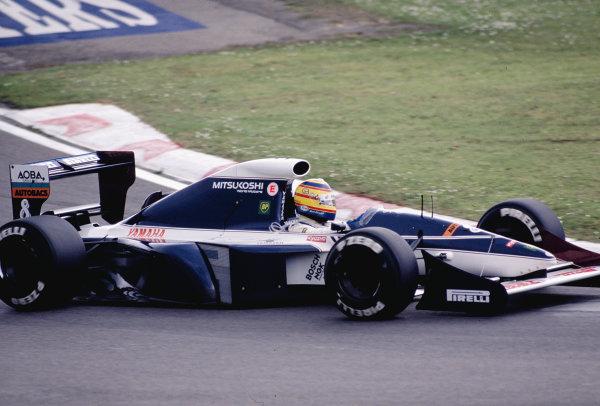 1991 San Marino Grand Prix.Imola, Italy.26-28 April 1991.Mark Blundell (Brabham BT60Y Yamaha).Ref-91 SM 39.World Copyright - LAT Photographic