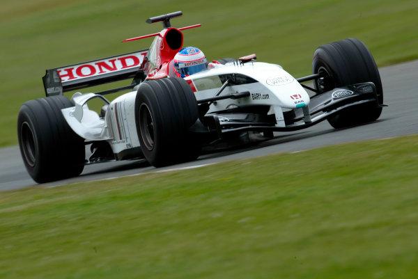 2004 Formula One Testing.Silverstone, England. 3rd June 2004Jenson Button, BAR Honda 006. Action.World Copyright:Peter Spinney/LAT.Ref:Digital image only