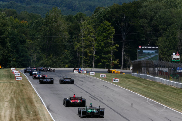 31 July - 2 August, 2015, Lexington, Ohio, USA Racing into turn 1 © 2015, Michael L. Levitt LAT Photo USA