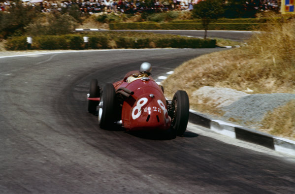 Pescara, Italy. 16-18 August 1957. Giorgio Scarlatti, Maserati 250F, 6th position. Ref: 57PES10. World Copyright - LAT Photographic