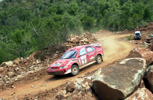 2001 World Rally Championship.Nairobi, Kenya. July 20-22, 2001Tommi Makinen on section 7.Photo: Ralph Hardwick/LAT