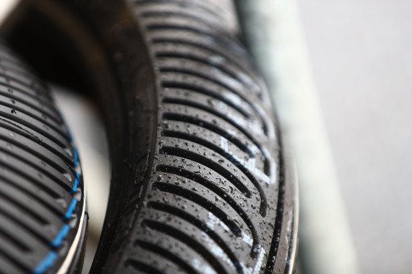 Pirelli wet tyres.