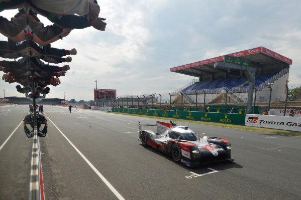Winner #8 Toyota Gazoo Racing Toyota TS050: Sébastien Buemi, Kazuki Nakajima, Brendon Hartley