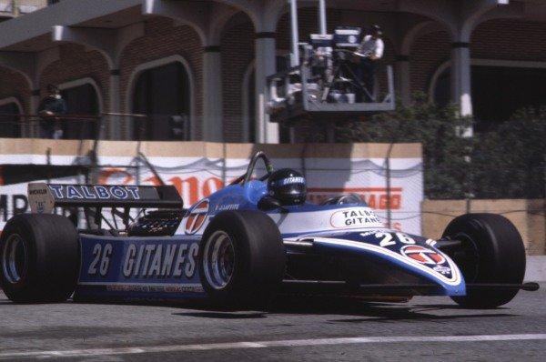1981 United States Grand Prix West.Long Beach, California, USA.13-15 March 1981.Jacques Laffite (Talbot Ligier JS17 Matra).World Copyright - LAT Photographic