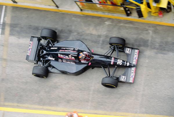 1994 San Marino Grand Prix.Imola, Italy. 29/4-1/5 1994.Heinz-Harald Frentzen (Sauber C13 Mercedes) 7th position.Ref-94 SM 60.World Copyright - LAT Photographic