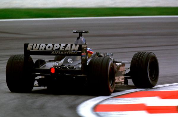 2001 Malaysian Grand Prix.Sepang, Kuala Lumpur, Malaysia. 16-18 March 2001.Fernando Alonso (Minardi PS01 European).World Copyright - Charles Coates/LAT Photographic ref:35mm Image A34
