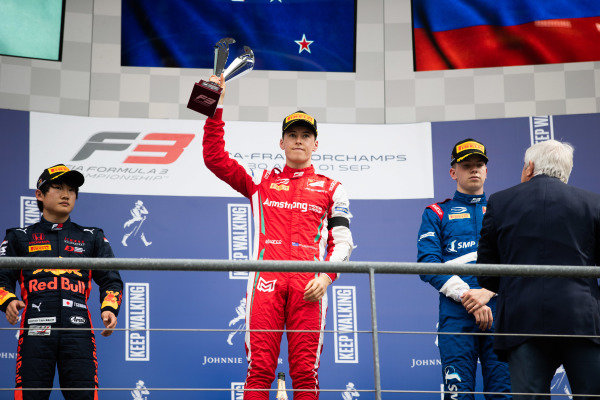 SPA-FRANCORCHAMPS, BELGIUM - SEPTEMBER 01: Marcus Armstrong (NZL, PREMA Racing) during the Spa-Francorchamps at Spa-Francorchamps on September 01, 2019 in Spa-Francorchamps, Belgium. (Photo by Joe Portlock / LAT Images / FIA F3 Championship)
