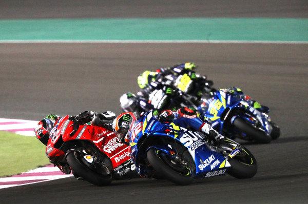 Danilo Petrucci, Ducati Team, Alex Rins, Team Suzuki MotoGP.
