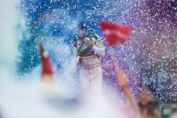Race winner Lucas Di Grassi (BRA), Audi Sport ABT Schaeffler celebrates on the podium