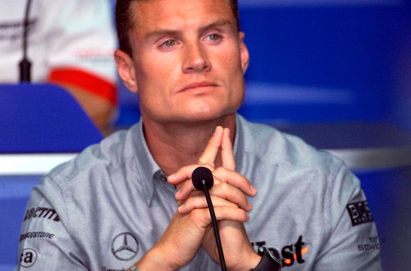 2001 Malaysian Grand Prix.Sepang, Kuala Lumpur, Malaysia. 16-18 March 2001.David Coulthard (McLaren) in the Thursday press conference.World Copyright - Steve Etherington/LAT Photographic.ref: 18mb Digital Image