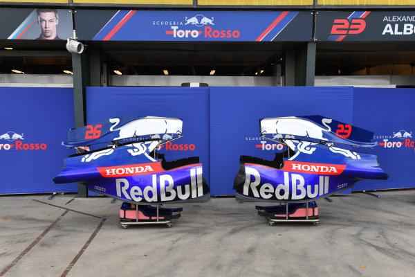Scuderia Toro Rosso STR14 bodywork in the paddock