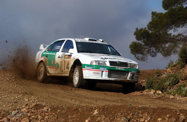 World Rally Championship, Cyprus Rally, April 18-21, 2002.Kenneth Eriksson in action on Stage 8, Leg 2.Photo: Ralph Hardwick/LAT