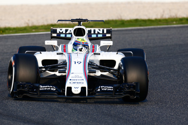 Circuit de Barcelona Catalunya, Barcelona, Spain. Monday 27 February 2017. Felipe Massa, Williams FW40 Mercedes.  World Copyright: Zak Mauger/LAT Images ref: Digital Image _L0U9737