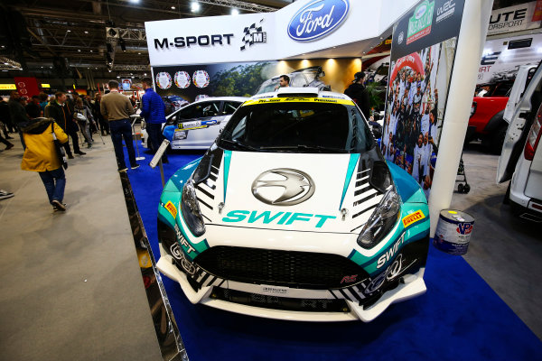 Autosport International Exhibition. National Exhibition Centre, Birmingham, UK. Sunday 14th January 2018. The M-Sport stand.World Copyright: Mike Hoyer/JEP/LAT Images Ref: AQ2Y9951