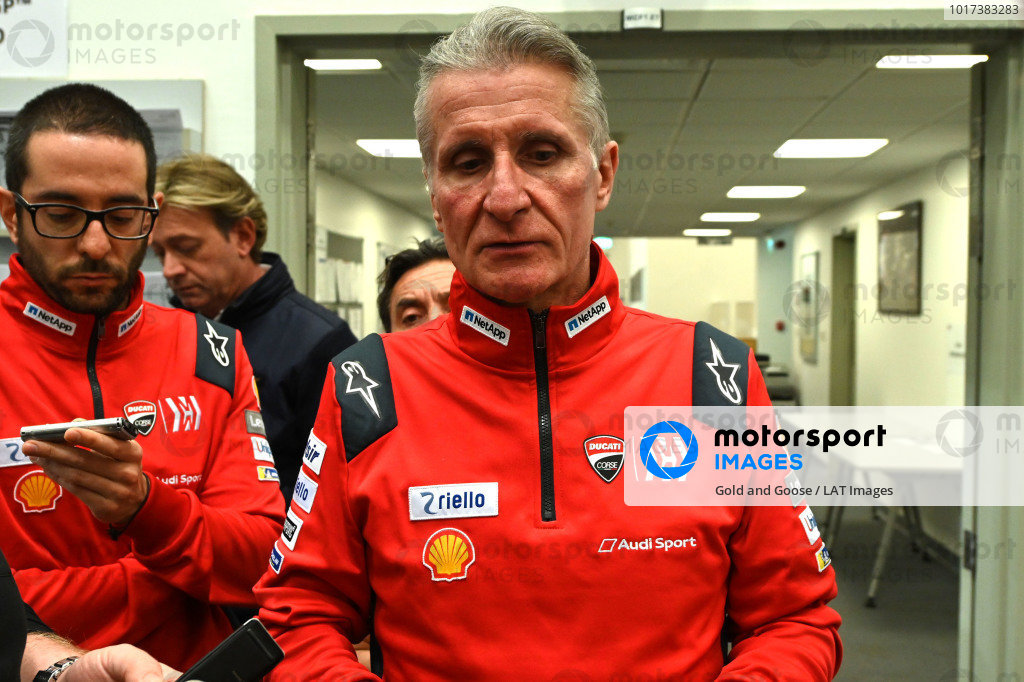 Davide Tardozzi, Team manager Ducati Team.
