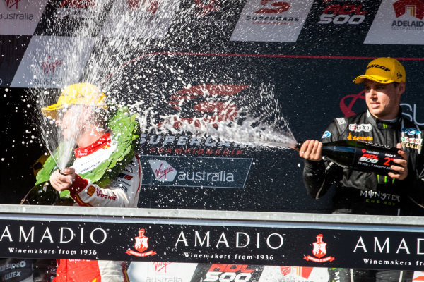 Scott McLaughlin, DJR Team Penske Ford, Cameron Waters, Tickford Racing Ford